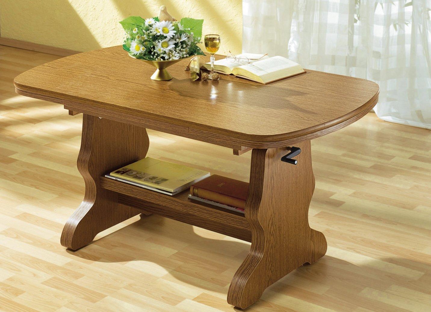 Couchtisch Höhenverstellbar Eiche ~ Couchtisch Eiche Rustikal höhenverstellbar ausziehbar Tisch Möbel
