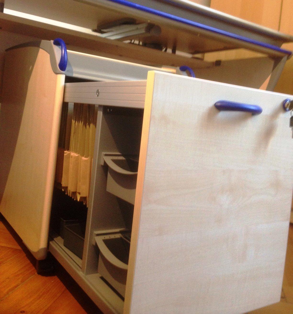 moll schreibtisch tisch container h ngeregistratur tageslicht schreibtischlampe ebay. Black Bedroom Furniture Sets. Home Design Ideas