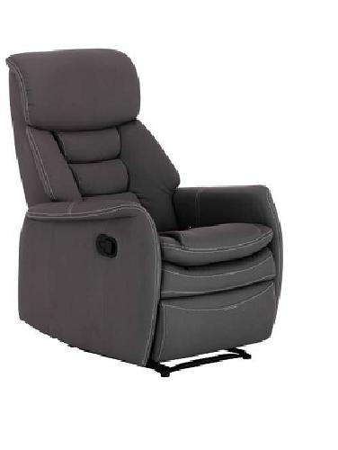 relaxsessel grau kunstleder sessel sitzm bel fernsehsessel. Black Bedroom Furniture Sets. Home Design Ideas