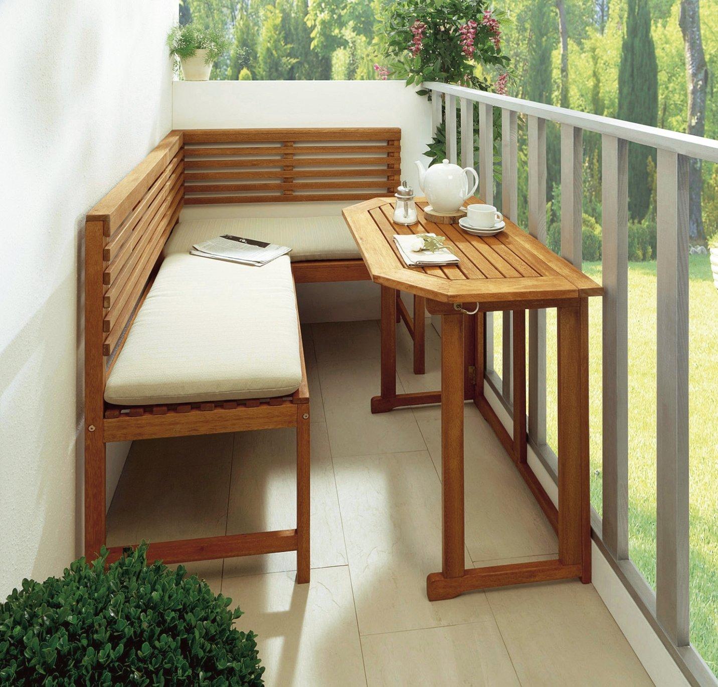 balkonmöbel eckbank