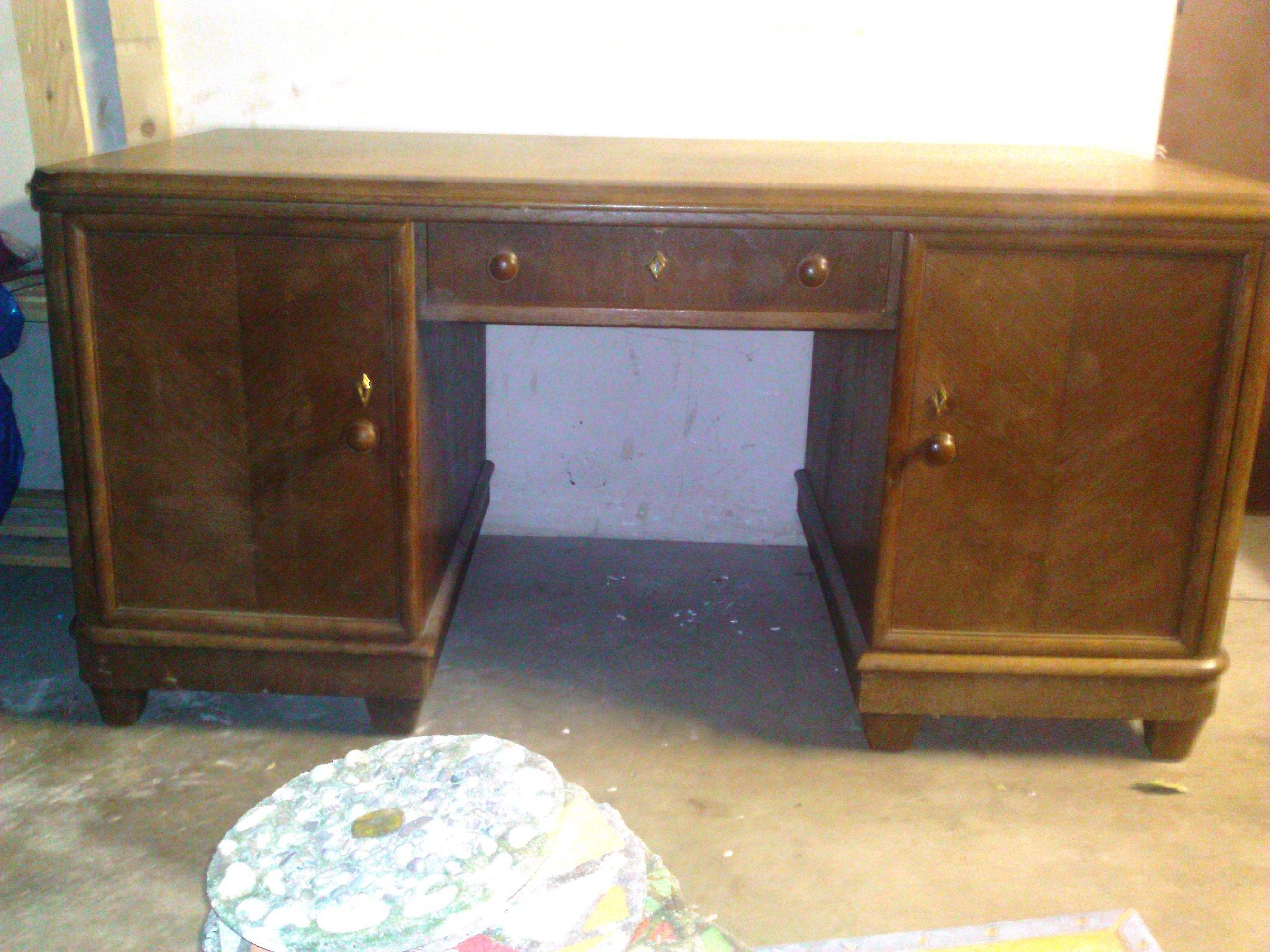Schreibtisch ca 1936 40er jahre antik rarit t massiv holz for Schreibtisch alt