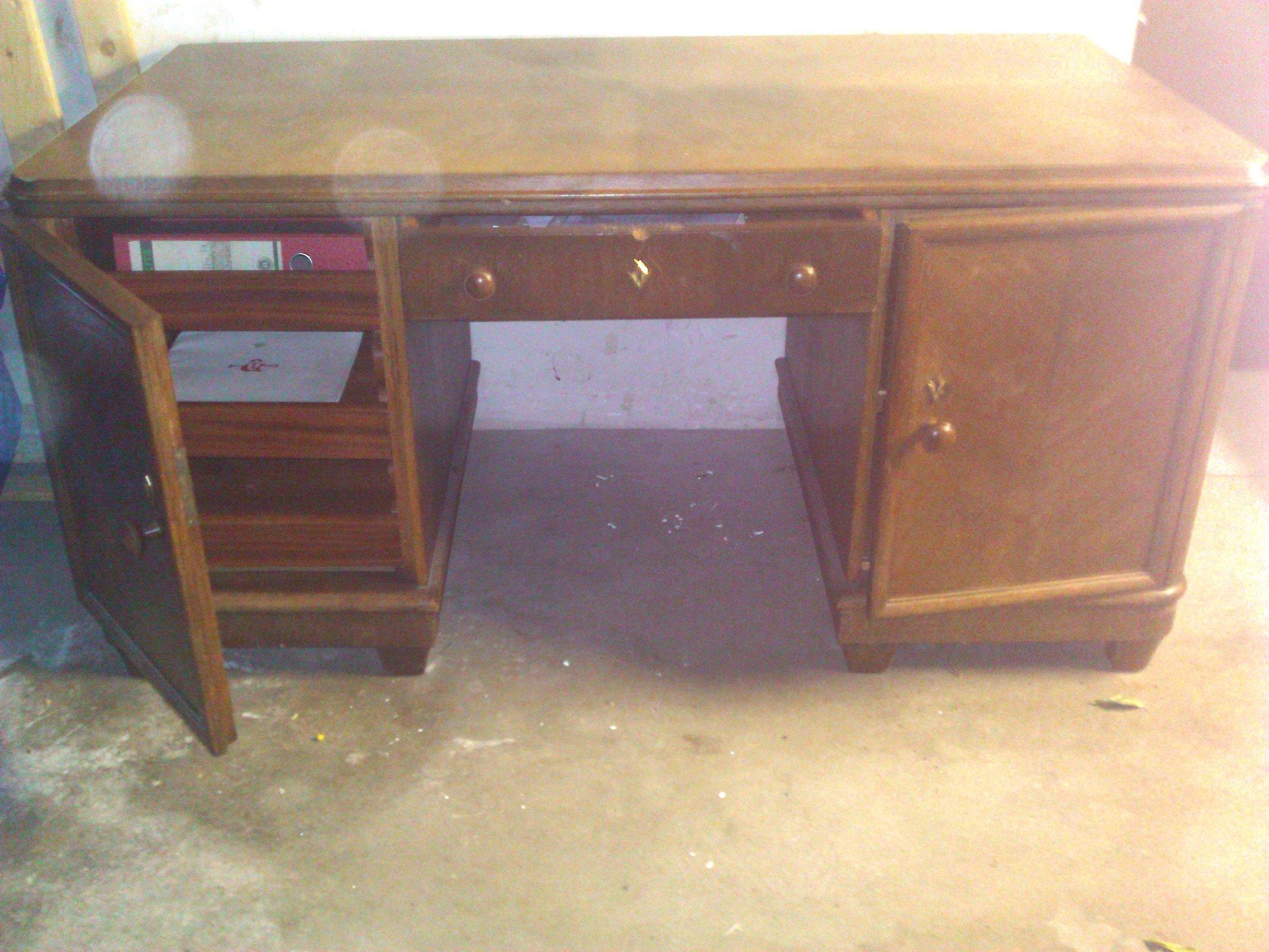 Schreibtisch ca 1936 40er jahre antik rarit t massiv holz for Schreibtisch 40er