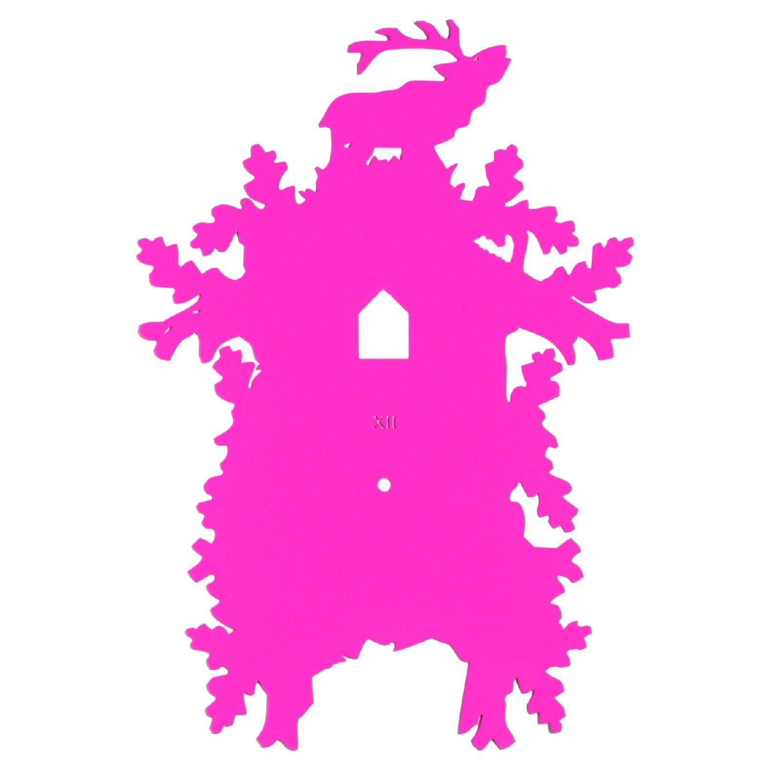 pimp up front kuckucksuhr pink hirsch wanduhr uhr. Black Bedroom Furniture Sets. Home Design Ideas