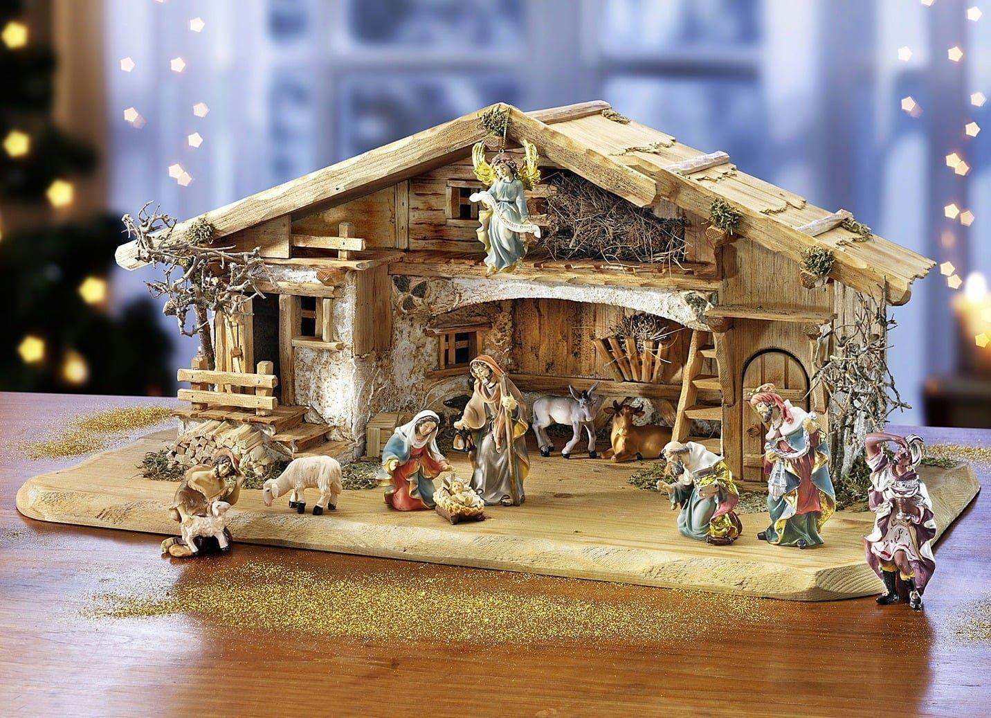 Krippenstall lindau weihnachten stall krippe figuren - Weihnachtsdeko figuren ...