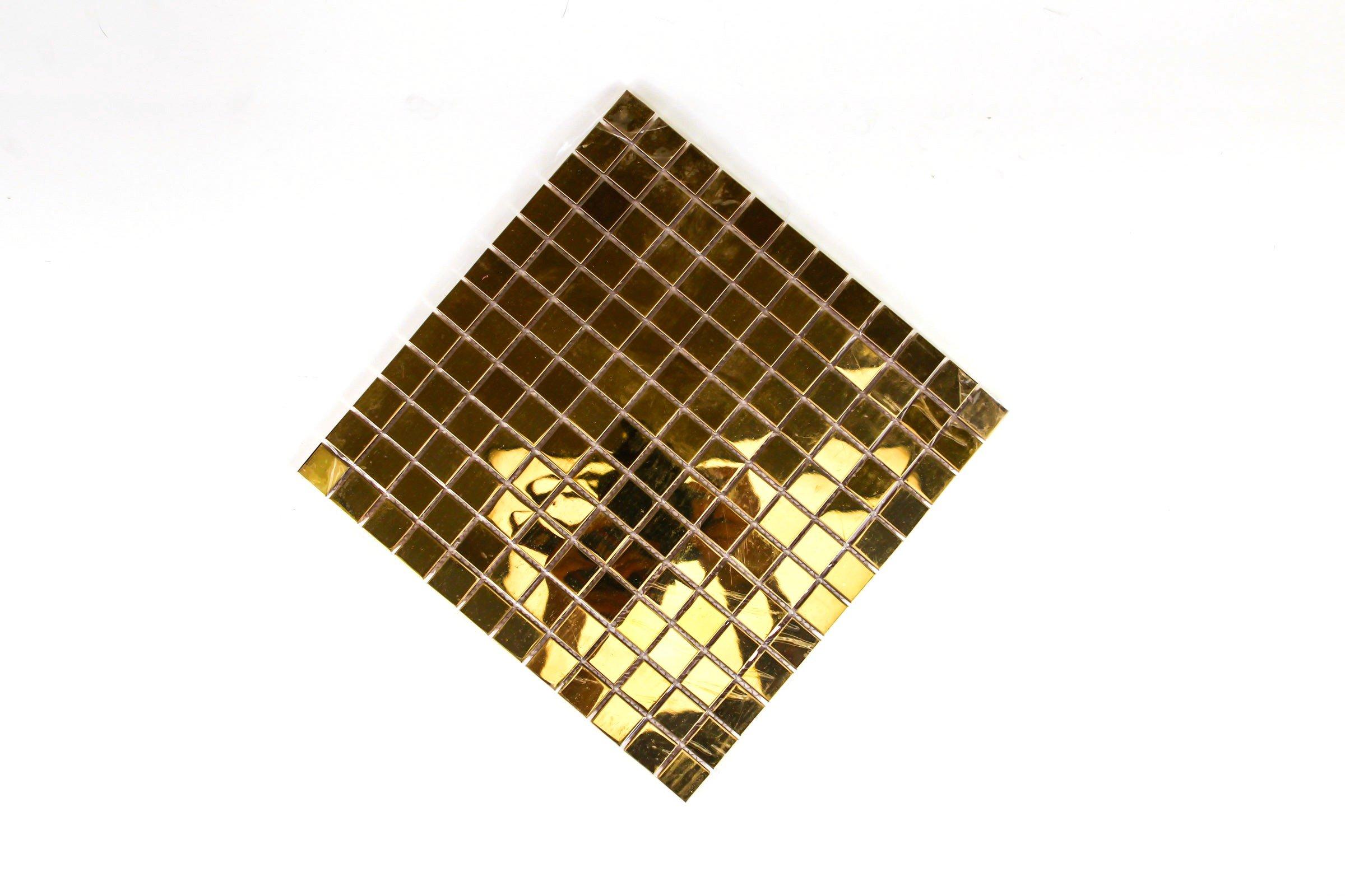 glasmosaik 30x30cm glasfliesen gold mosaikfliese bodenfliesen fliesen klein ebay. Black Bedroom Furniture Sets. Home Design Ideas