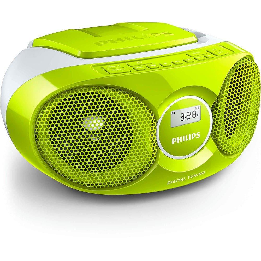 philips az215 tragbarer cd player gr n radio soundmachine. Black Bedroom Furniture Sets. Home Design Ideas