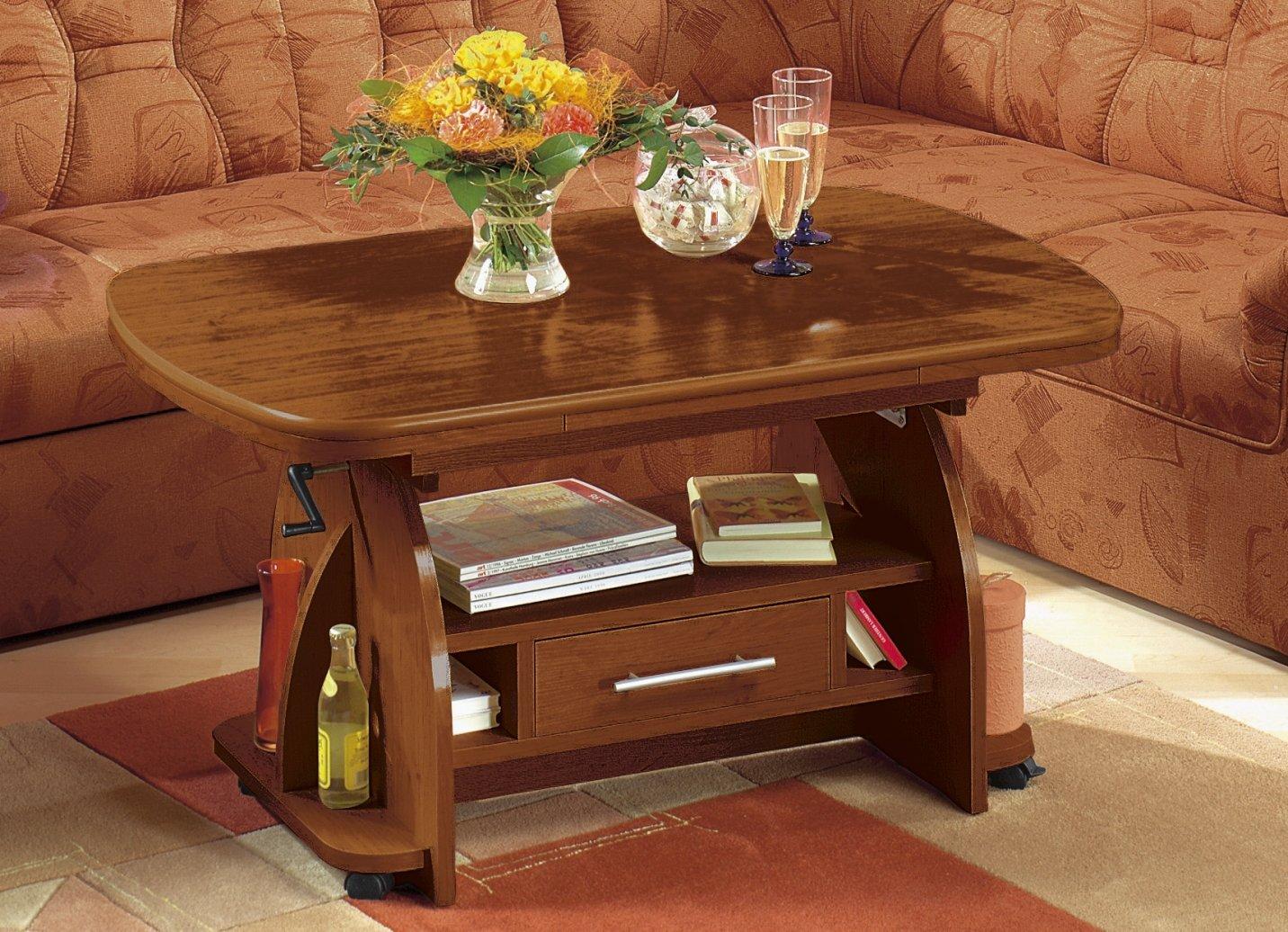Couchtisch Hoehenverstellbar Ausziehbar Farben Waehlbar Tisch  Wohnzimmertisch