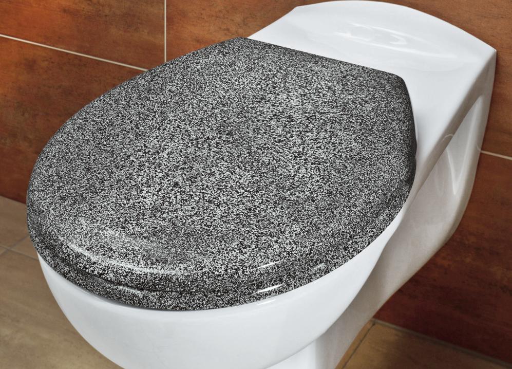 Toilettensitz Ottana Granit Wenko Toilettendeckel Mit