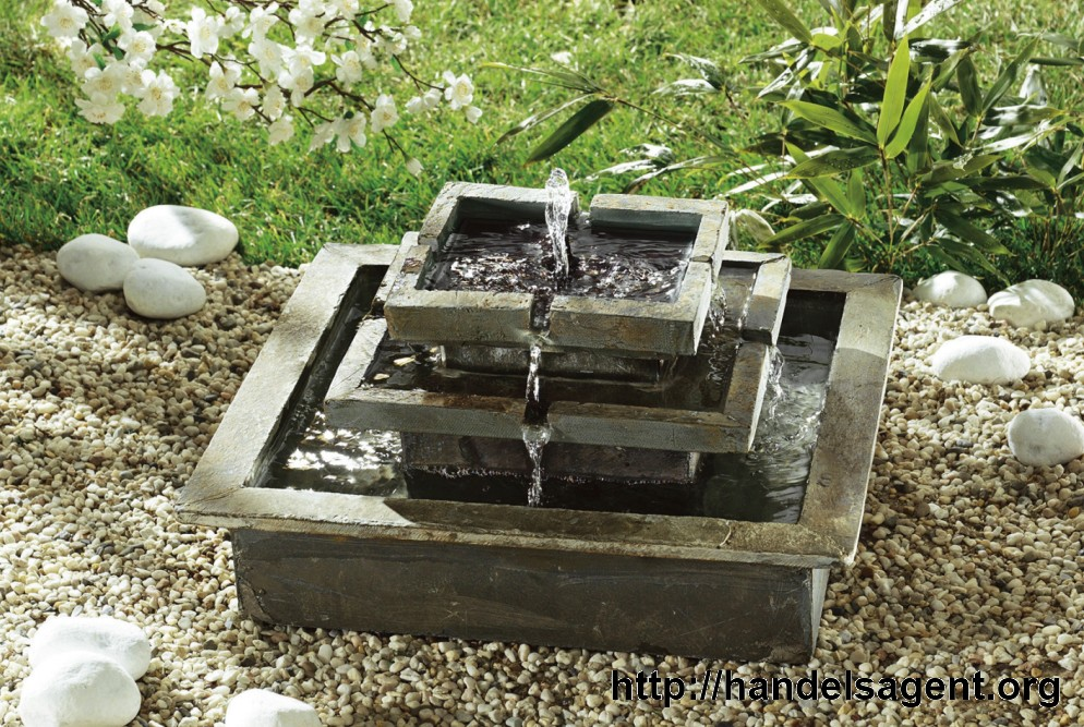 solar stufenbrunnen brunnen gartenbrunnen zierbrunnen zimmerbrunnen ebay. Black Bedroom Furniture Sets. Home Design Ideas