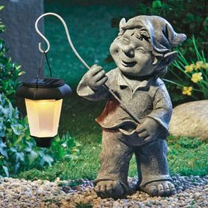 Wichtel Mit Solarleuchte Gartenleuchte Gartenfigur Zwerg Gnom Figur