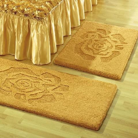 bettumrandung gold teppichboden umrandung bett schlafzimmer dekor flor boden ebay. Black Bedroom Furniture Sets. Home Design Ideas