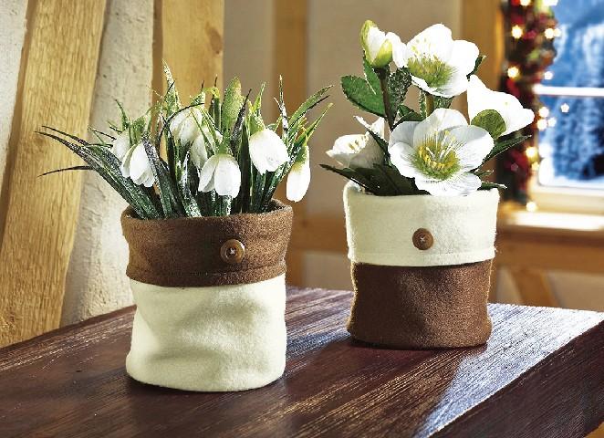 winterbl her gesteck schneegl ckchen christrose kunstblume. Black Bedroom Furniture Sets. Home Design Ideas