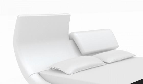 neu lederbett 140x200 cm sun weiss kunstleder bett bettgestell 44916360. Black Bedroom Furniture Sets. Home Design Ideas