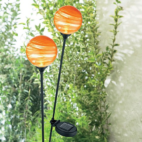 solarleuchte kugel orange gartenleuchte led gartenlampe solarlampe deko ebay. Black Bedroom Furniture Sets. Home Design Ideas