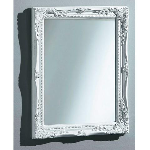 wandspiegel wei rahmen spiegel dekoration zierspiegel klassisch wohnen ebay. Black Bedroom Furniture Sets. Home Design Ideas