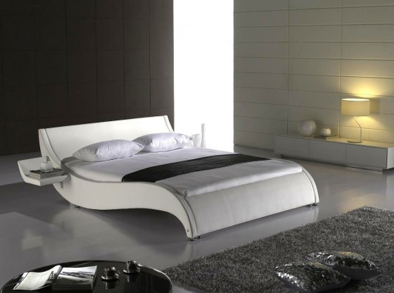 neu leder bett 140x200 cm marco weiss kunstleder bett. Black Bedroom Furniture Sets. Home Design Ideas