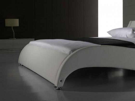 neu leder bett 140x200 cm marco weiss kunstleder bett bettgestell 41726400 ebay. Black Bedroom Furniture Sets. Home Design Ideas