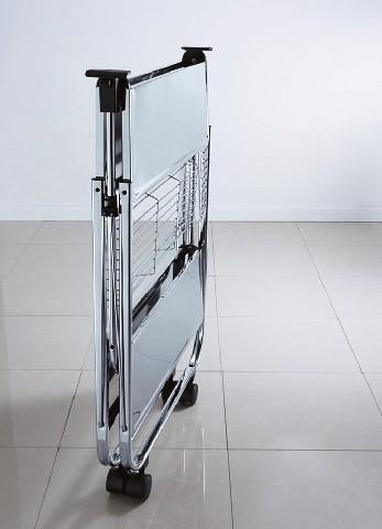 Beistellwagen beistelltisch stahl aufbewahrung rollbar for Beistelltisch rollbar