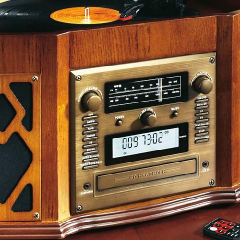 nostalgie musik center radio plattenspieler cd player. Black Bedroom Furniture Sets. Home Design Ideas
