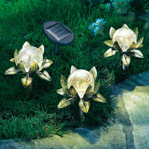 3 solar blumenstecker blume gartenleuchte led gartenlampe solarlampe deko ebay. Black Bedroom Furniture Sets. Home Design Ideas
