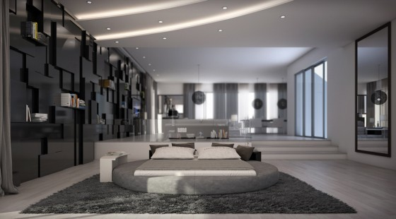 neu rundbett 180x200 roxana grau kunstleder bett. Black Bedroom Furniture Sets. Home Design Ideas