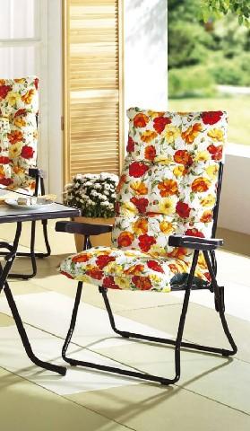 1 polsterauflage f r st hle gartenstuhl auflage gelb sitzpolster stuhlauflage ebay. Black Bedroom Furniture Sets. Home Design Ideas