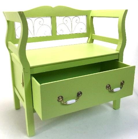 sitzbank gr n schublade sitztruhe truhe bank truhenbank. Black Bedroom Furniture Sets. Home Design Ideas