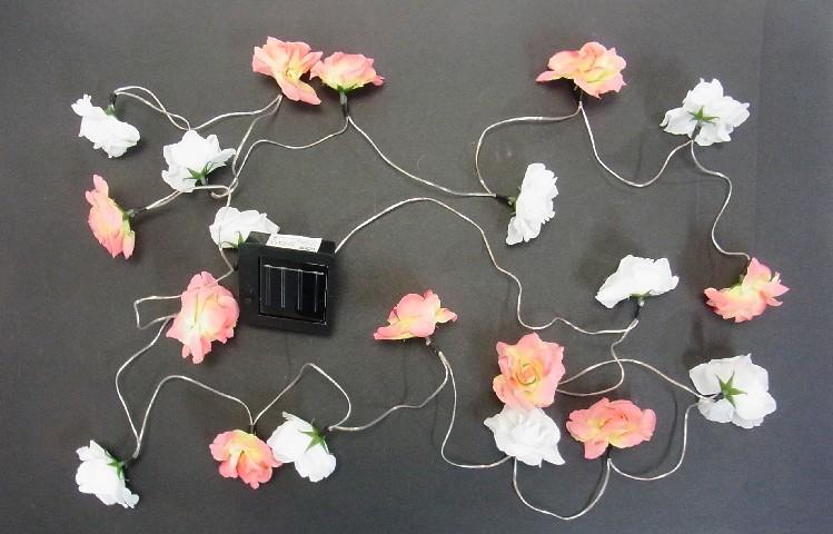 solarleuchte blumen lichterkette solarlampe gartenlampe. Black Bedroom Furniture Sets. Home Design Ideas