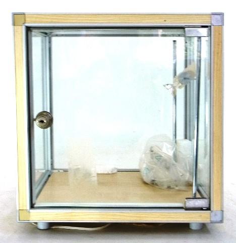 2 glasvitrinen vitrine vitrinenw rfel schaukasten pr sentationskasten beleuchtet ebay. Black Bedroom Furniture Sets. Home Design Ideas
