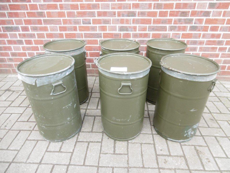 1x Feuertonne Tonne Blechtonne Mülltonne 630mm Outdoor Fit ex Bundeswehr BT1