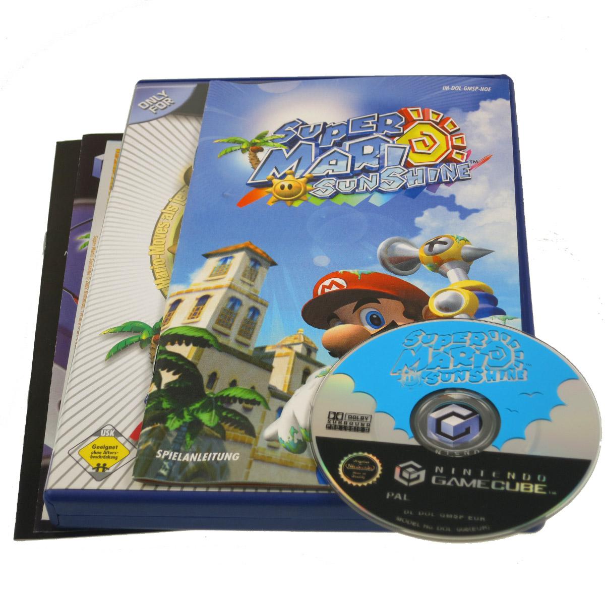 Super Mario Sunshine Gamecube Gc Game Cube Wii Spiel Ovp Top Zustand