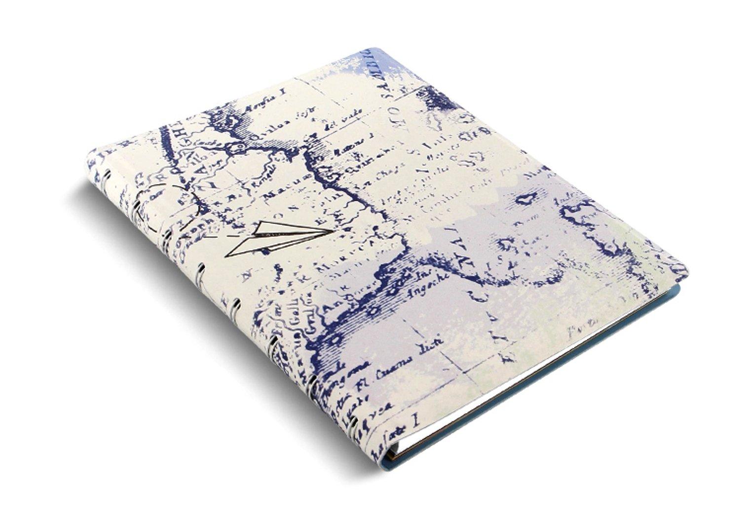 filofax notebook patterns a5 retro map landkarte notizbuch spiralbindung 115049 ebay. Black Bedroom Furniture Sets. Home Design Ideas