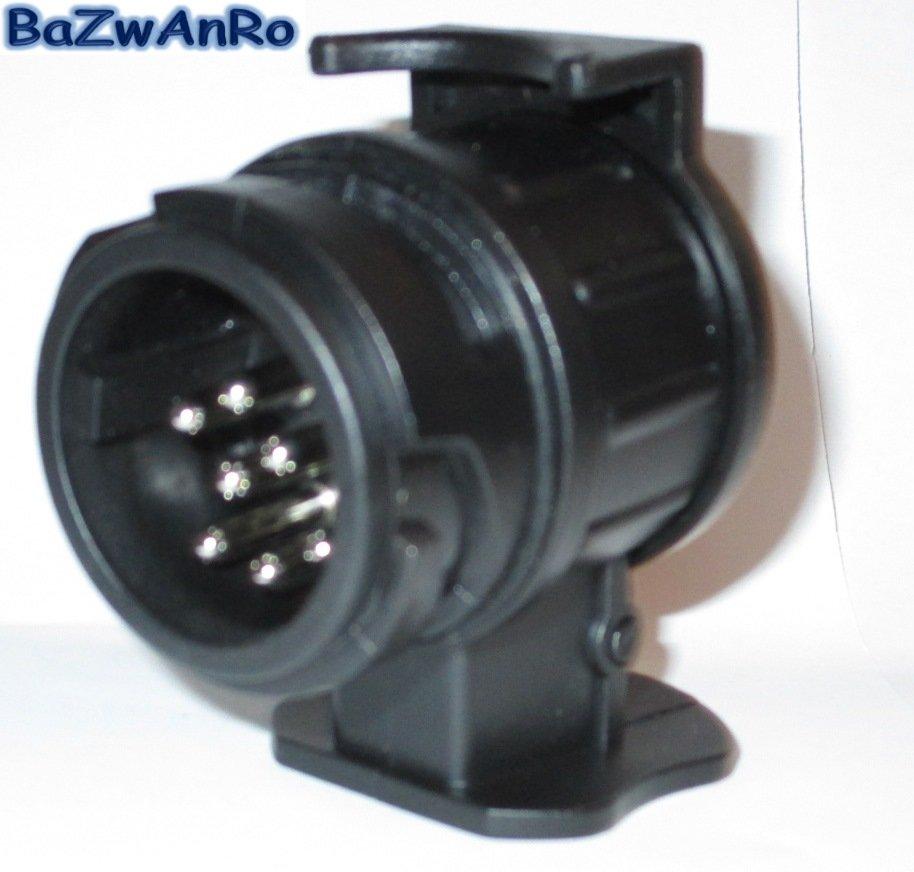 adapter f r pkw anh nger stecker 13 auf 7 polig kurz. Black Bedroom Furniture Sets. Home Design Ideas