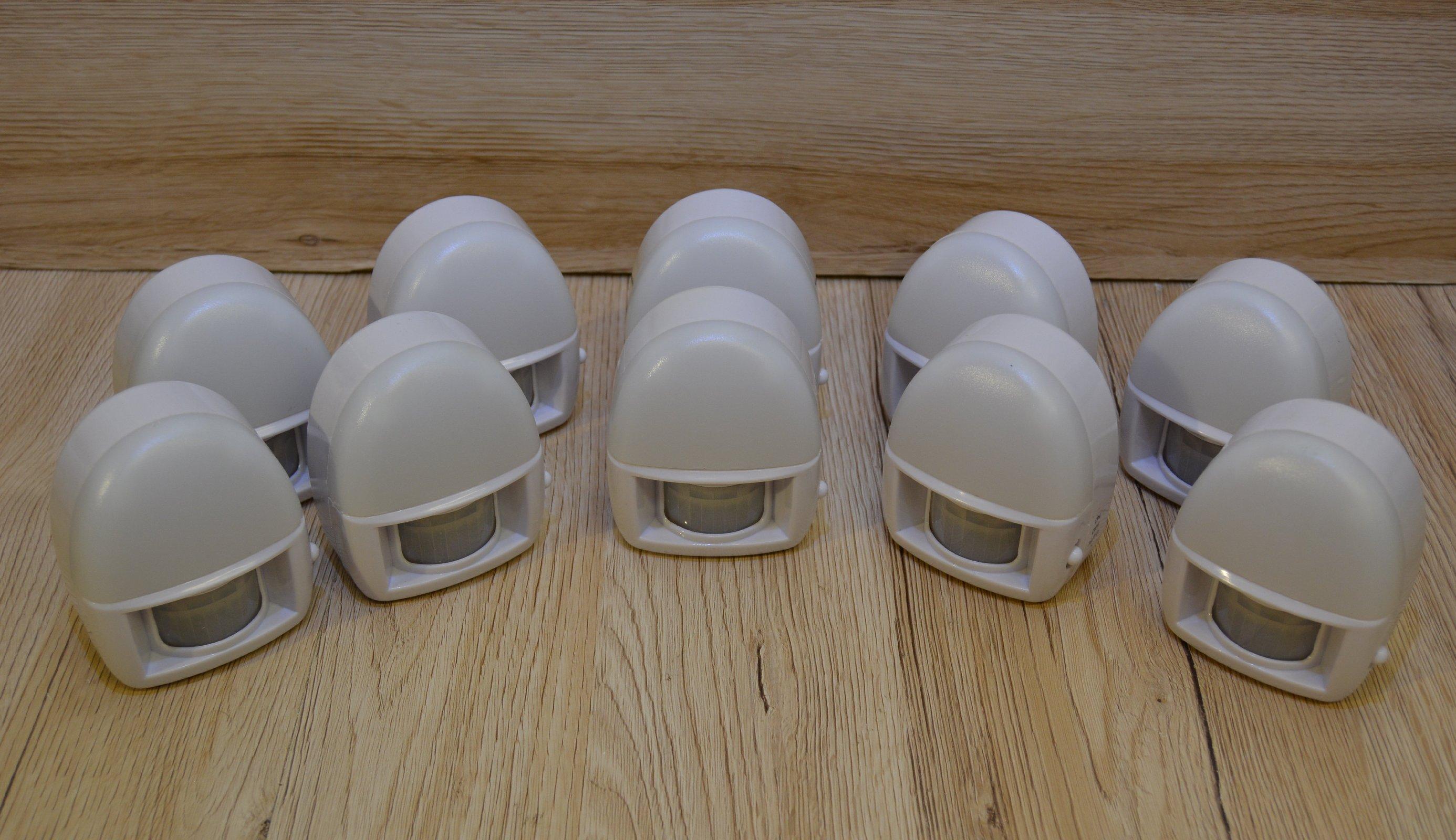 led nachtlicht mit bewegungsmelder batteriebetrieb 3 wei e leds on off auto ebay. Black Bedroom Furniture Sets. Home Design Ideas