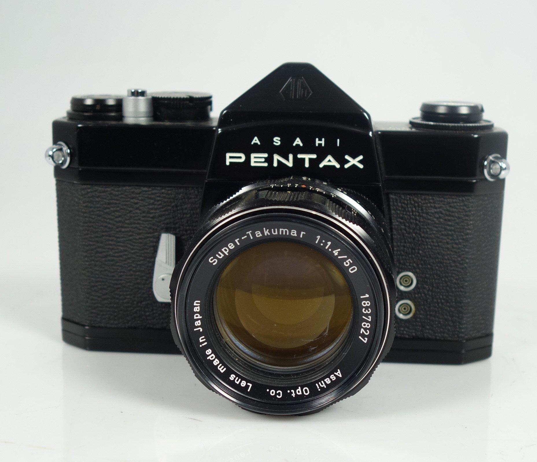 asahi pentax spiegelreflexkamera sl super takumar 1 1 4 50 lens ebay. Black Bedroom Furniture Sets. Home Design Ideas